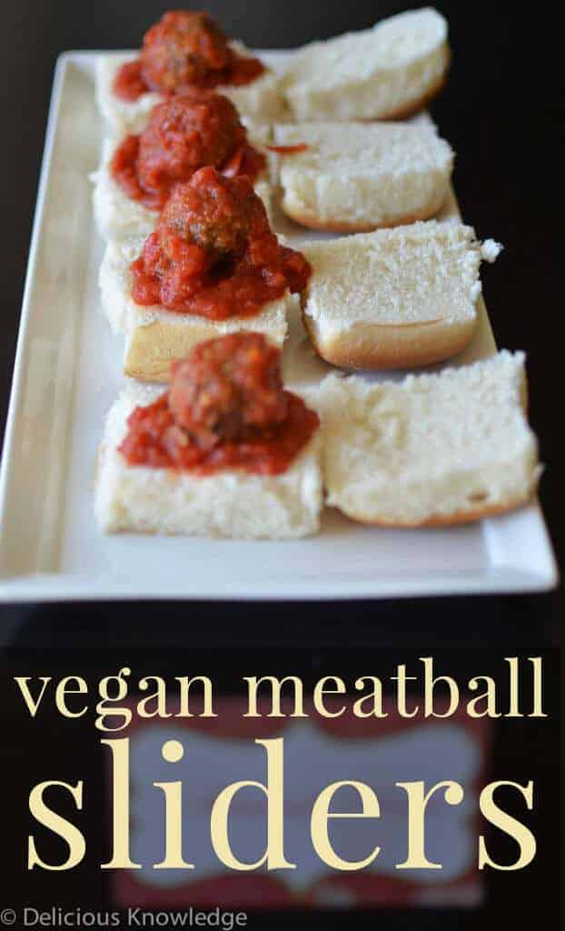 Vegan Meatball sliders! The perfect appetizer for the holidays. | www.delishknowledge.com