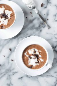 Vegan Mexican Hot Chocolate! Thick, creamy hot chocolate lightly spiced with cayenne and cinnamon. | www.delishknowledge.com