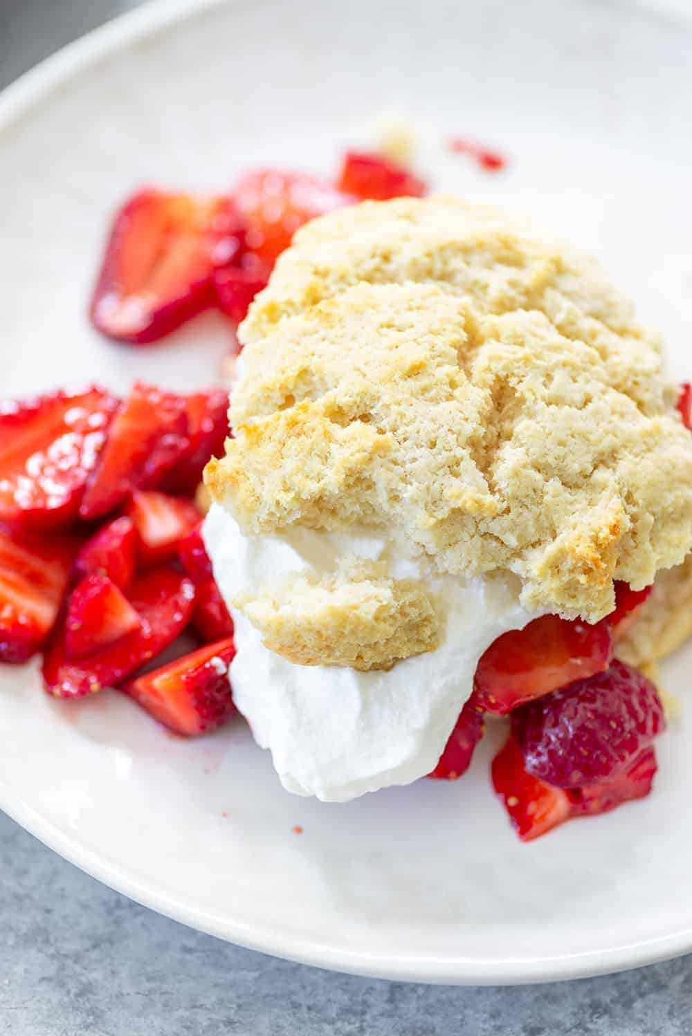 Vegan Strawberry Shortcake with Coconut Cream