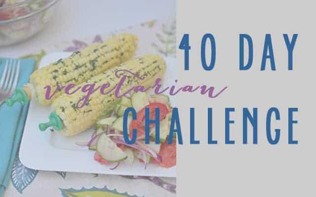 40 day vegetarian challenge