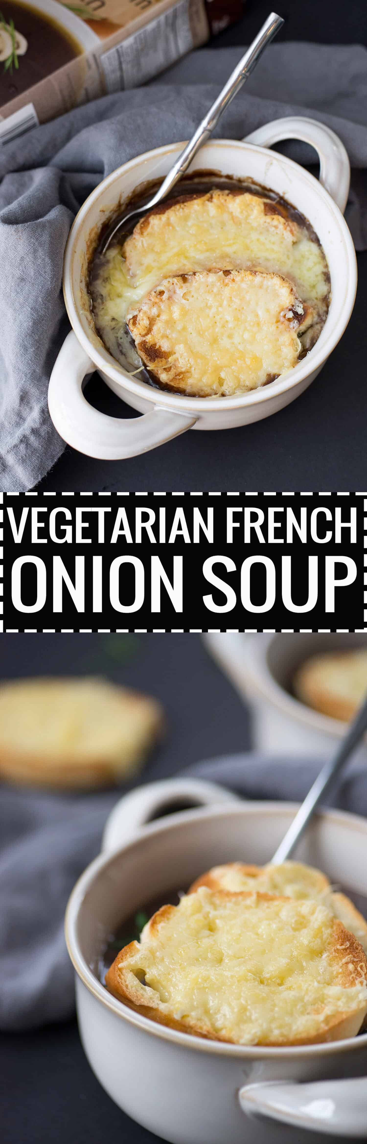 Vegetarian French Onion Soup! Super flavorful, rich and comforting. A must-make this Fall and Winter. | www.delishknowledge.com