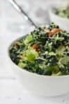 Shredded Brussels Sprouts Salad with Toasted Almonds and Grated Parmesan. The BEST salad, perfect for Thanksgiving and the holidays! You must make this one.   www.delishknowledge.com