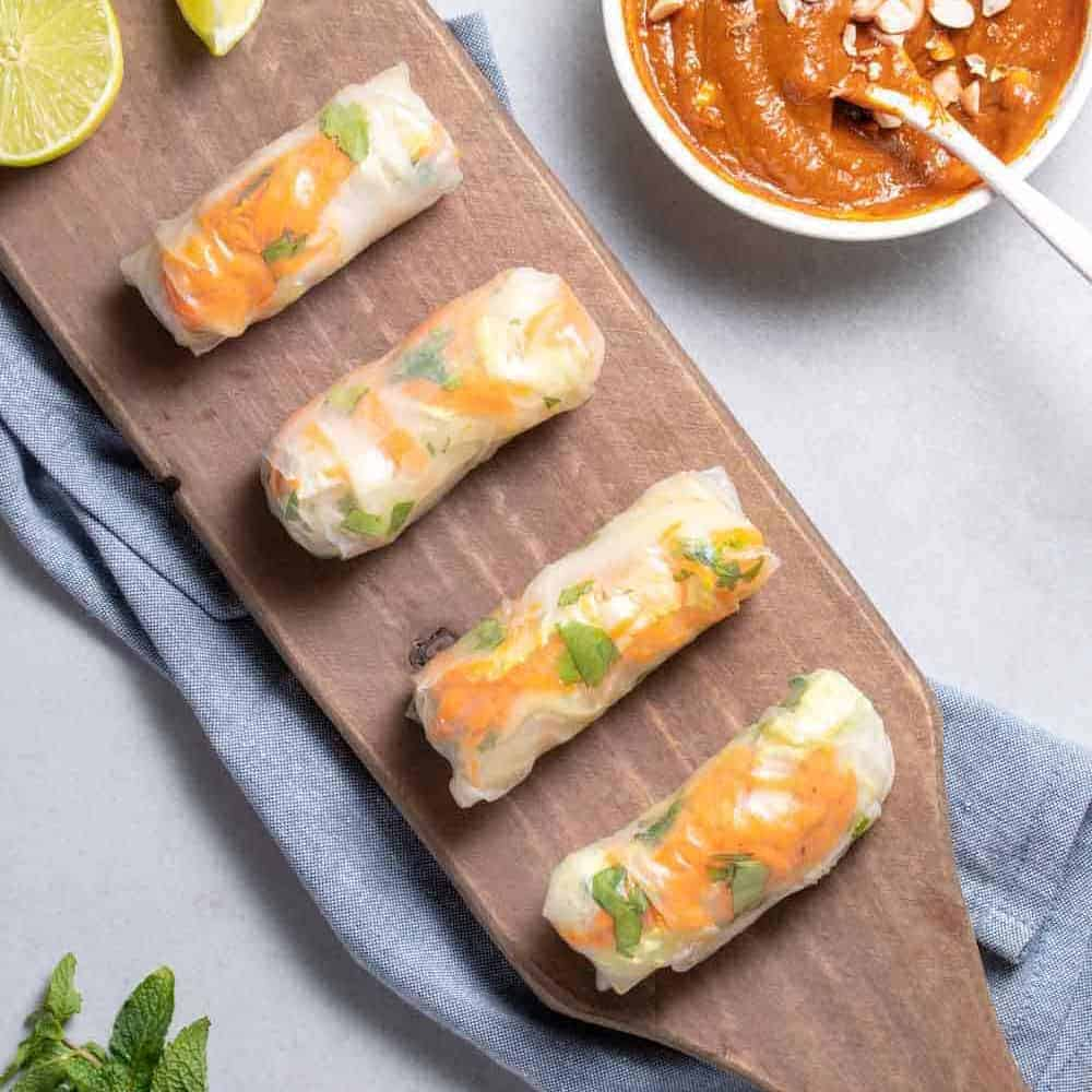 Vegan Vietnamese Tofu Spring Rolls Delish Knowledge
