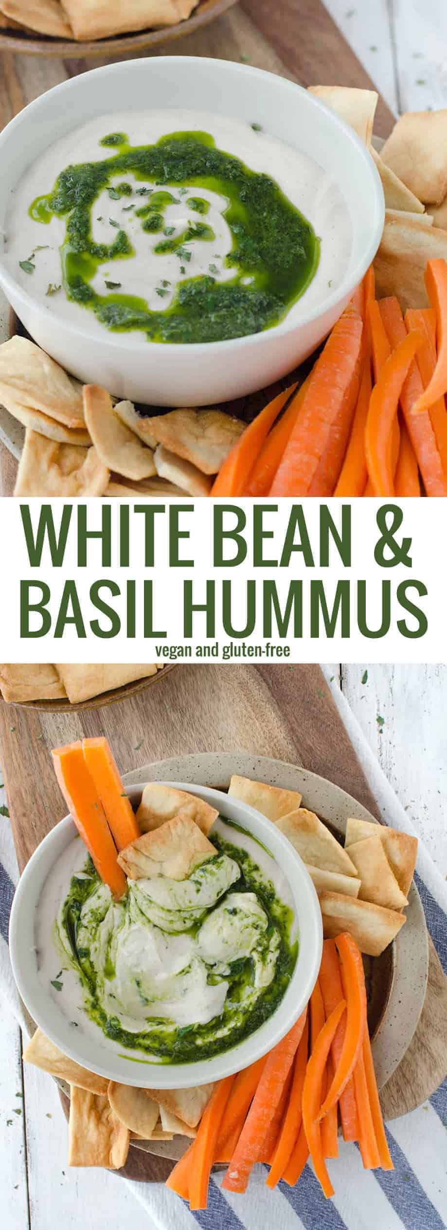 white bean and basil hummus