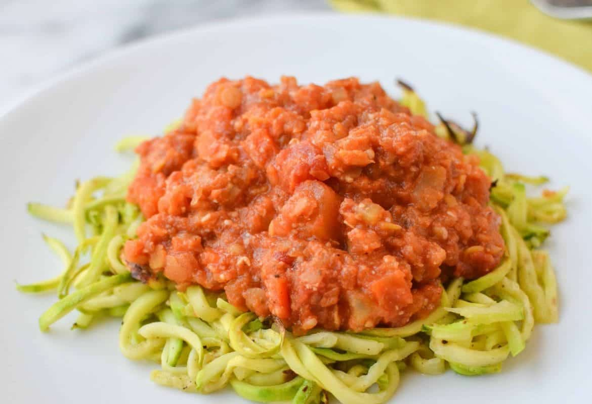 How to: Zucchini Noodles with Lentil Bolognase